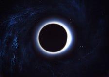 Zwart gat in ruimte Stock Afbeeldingen