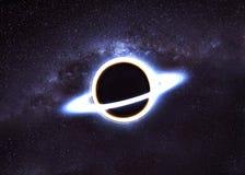 Zwart gat in ruimte royalty-vrije stock afbeeldingen