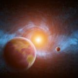 Zwart gat in ruimte Stock Foto's