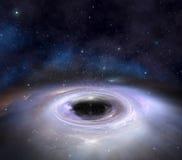 Zwart gat in ruimte Royalty-vrije Stock Fotografie