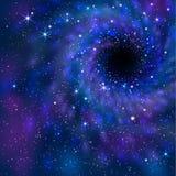 Zwart gat ruimte Stock Afbeelding