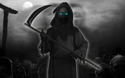 Zwart geïsoleerd Spook Stock Illustratie