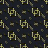 Zwart geel naadloos patroon als achtergrond stock illustratie