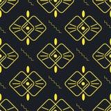 Zwart geel naadloos patroon als achtergrond royalty-vrije illustratie