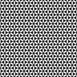 Zwart GEOMETRISCH naadloos patroon op witte achtergrond Stock Foto