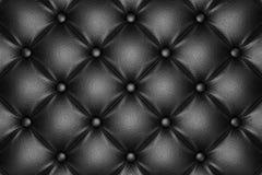 Zwart gewatteerd leerpatroon royalty-vrije stock afbeelding