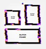 Zwart glitch kader Vervormingsgevolgen voor reclame stock illustratie