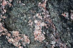 Zwart Graniet met Roze Kwarts Stock Foto