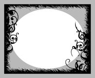 Zwarte Grijze Banner Stock Illustratie Illustratie Bestaande Uit