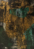 Zwart Groen Goud als achtergrond Royalty-vrije Stock Fotografie