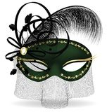 zwart-groene half-mask Royalty-vrije Stock Afbeeldingen