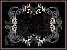 Zwart grungeframe Stock Afbeelding