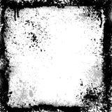 Zwart grungeframe Stock Afbeeldingen