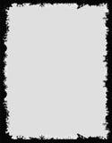Zwart grungekader Stock Afbeeldingen