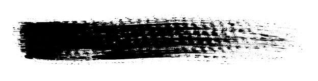 Zwart grungy borstelpatroon Stock Foto