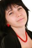 Zwart-haired meisje Stock Fotografie