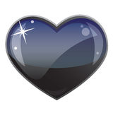 Zwart hart Royalty-vrije Stock Foto