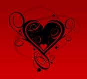 Zwart hart Stock Afbeelding