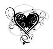 Zwart hart royalty-vrije illustratie