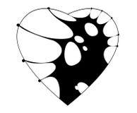 Zwart hart Stock Illustratie