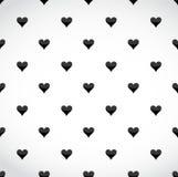 zwart hartengeklets over een witte achtergrond Stock Afbeelding