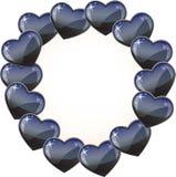 Zwart hartwerkingsgebied Royalty-vrije Stock Foto