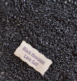 Zwart Hawaiiaans Lava Salt stock foto