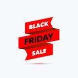 Zwart het ontwerpmalplaatje van de vrijdagverkoop Creatieve banner Vectorillus Stock Foto