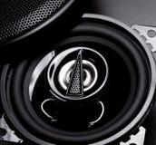 Zwart high-power audiosysteem Stock Afbeelding