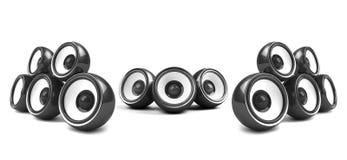 Zwart high-power audiosysteem stock illustratie