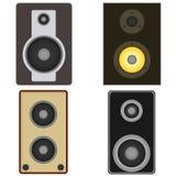 Zwart high-power audiosysteem Royalty-vrije Stock Afbeelding