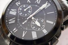 Zwart Horloge Stock Fotografie