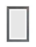 Zwart houten fotokader op wit Stock Afbeeldingen