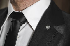 Zwart Huwelijkskostuum Royalty-vrije Stock Foto