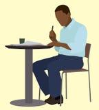 Zwart Job Seeker stock illustratie