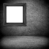 Zwart kader op grijze achtergrond Royalty-vrije Stock Afbeelding