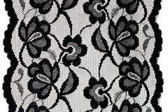 Zwart kant met patroon Royalty-vrije Stock Afbeeldingen