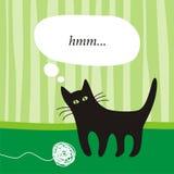 Zwart katje Stock Illustratie