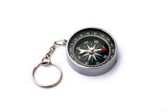 Zwart kompas dat op witte achtergrond wordt geïsoleerd Royalty-vrije Stock Afbeeldingen