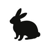 Zwart konijnsilhouet Stock Foto's