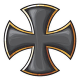 Zwart kruis Royalty-vrije Stock Afbeeldingen