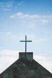 Zwart kruis Stock Fotografie