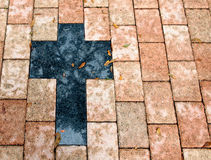 Zwart kruis royalty-vrije stock foto's