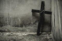 Zwart kruis Royalty-vrije Stock Afbeelding