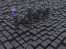 Zwart kubussenidee Royalty-vrije Stock Afbeelding