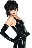 Zwart latex royalty-vrije stock afbeeldingen