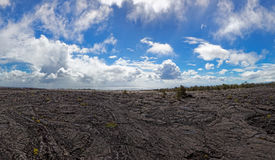 Zwart lavalandschap - Kilauea-Vulkaan, Hawaï Royalty-vrije Stock Fotografie
