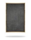 Zwart leeg verticaal bord met houten kader Stock Fotografie
