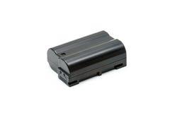 Zwart Lithium Ion Battery Pack Isolated Stock Afbeeldingen