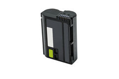 Zwart Lithium Ion Battery Pack Isolated Stock Foto's